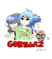 the gorillaz by marina-the-hedgehog