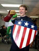 Captain America got a hold of Big Boy's Burger! by creativesnatcher69