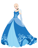 Requested Cinderella Dress Base by Raygirlbases