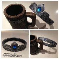 LARP props - Tankard  and Crown by GirlyGamerAU