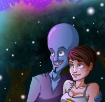 Megamind and Roxanne by MidoriEyes
