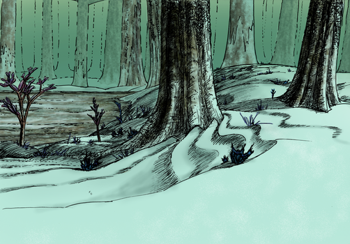 Spore Forest Early Work Coloured by SpectralNebula