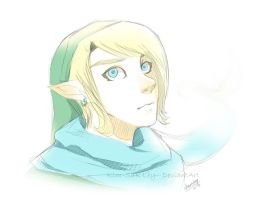 This Link with a blue scarf thing by Kim-SukLey