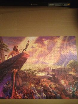 The Lion King: Thomas Kinkade Puzzle completed by TheDisneyGoof
