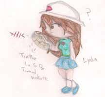 Lydia and Turtle by vampireintherain