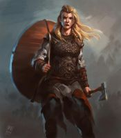 Female Viking warrior 2 by Raph04art