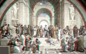 The School of Athens 3-D conversion by MVRamsey