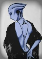 Liara the Shadow Broker by Clarice04