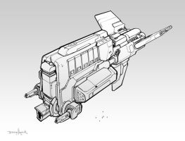 Hour 24 - Cantharan Destroyer by zombat
