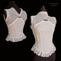 Shirt ivory lace, Somnia Romantica by M. Turin by SomniaRomantica