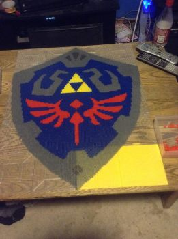 Hylian Shield Progress 1 by Pixelated-Broomstick