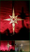 Scrollwork Star Christmas Tree Topper by xofox