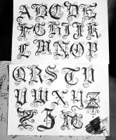 gothic font2 by ivanglas