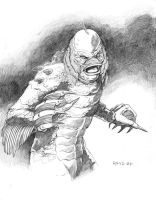 Creature from the Black Lagoon by randarrington
