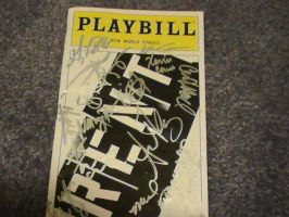 RENT-Autographed Playbill by xxVickiixx