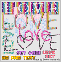 PNG TEXT SET 001 - Love by AndreeaArsene