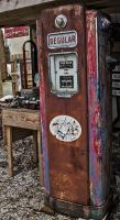 Rusty Old Gas Pump by boron