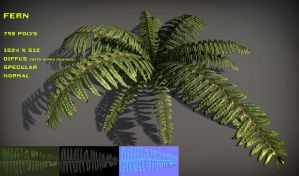Free Fern Pack by Nobiax