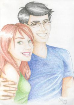 Lily and James Potter by quidwitch