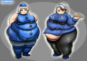 Fat Elizabeth and Margaret - Persona Weight Gain by Plumpchu