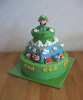 Supermario Cake by Naera
