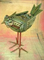 Curie The Mechanical Birdie by monsterkookies