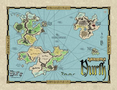 Elfs World Map by ad1066