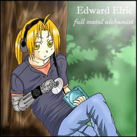 Edward listening to music by rose123321123