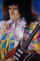 Brian May wembley 1992 by DrawnByYou