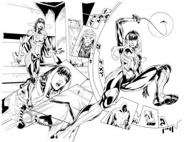 WILD #0 PGS 4 and 5 INKED by DON-WALKER