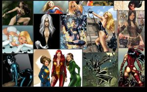 Female Super Heroes by GT-Orphan