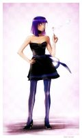 Stocking with short hair by Hija--Turner