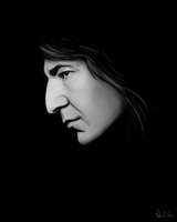 Severus Snape - Digital Drawing by Lasse17