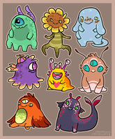 Sketch Monsters (CLOSED) by CrowDesigns