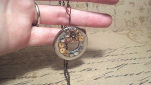 Flowers in the Attic Steampunk Pendant by SteamPunkTrunk