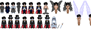 Tuxedo Kamen Sprites by Honest-Beauty