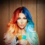 Bonnie McKee Red and Blue Ombre by knuxfan23