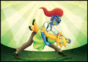 ElectroSwing - Undyne and Alphys by CutyAries