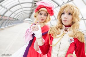Come here princess. Versailles no bara cosplay. by Giuzzys