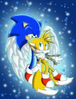 :Tails's Guardian Angel: by SonicSketch