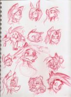 Random Head Doodles by Django90