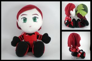 Mass Effect - Shepard plushie by eitanya