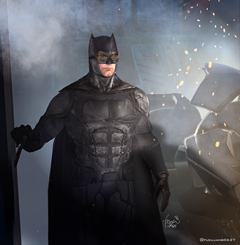 Tactical suit Batffleck by freakyzzang