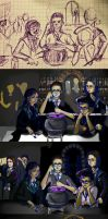 Harry Potter Friends W.I.P. by MoPotter