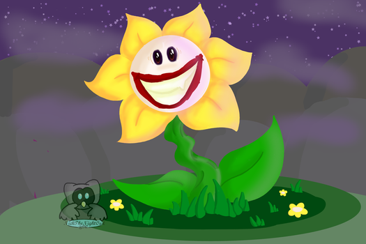 PaintAlong with TsaoShin - Flowey the Joker by NickTheNightOwl
