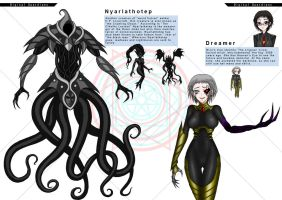 Nyarlathotep and Dreamer by moai666
