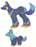 Fakemon- wolf 1 by DarkKitsunegirl