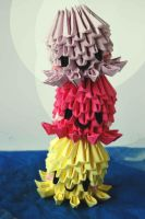 3D Origami Octopuses/Jellyfish by DunjaTheQuince