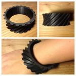 Helical Gear Bangle by ColeHastings