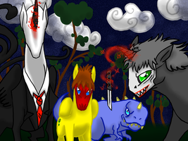 The Great Slender Mane's Followers by Die-Laughing